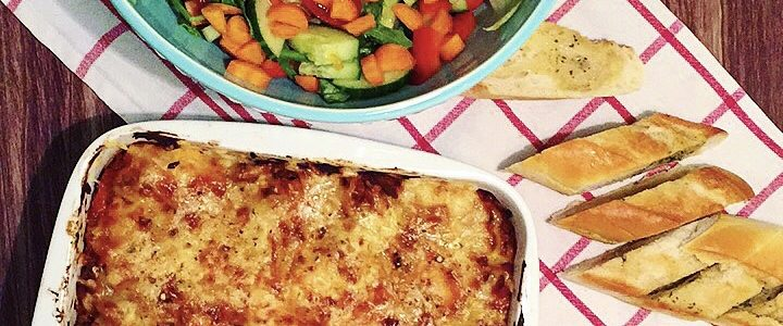 Spicy lasagne med gulrot